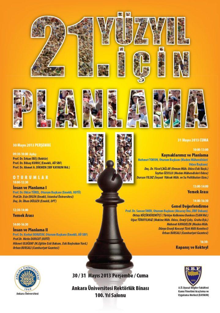 21 inci Yüzyıl İçin Planlama-II-30_31 Mayıs 2013