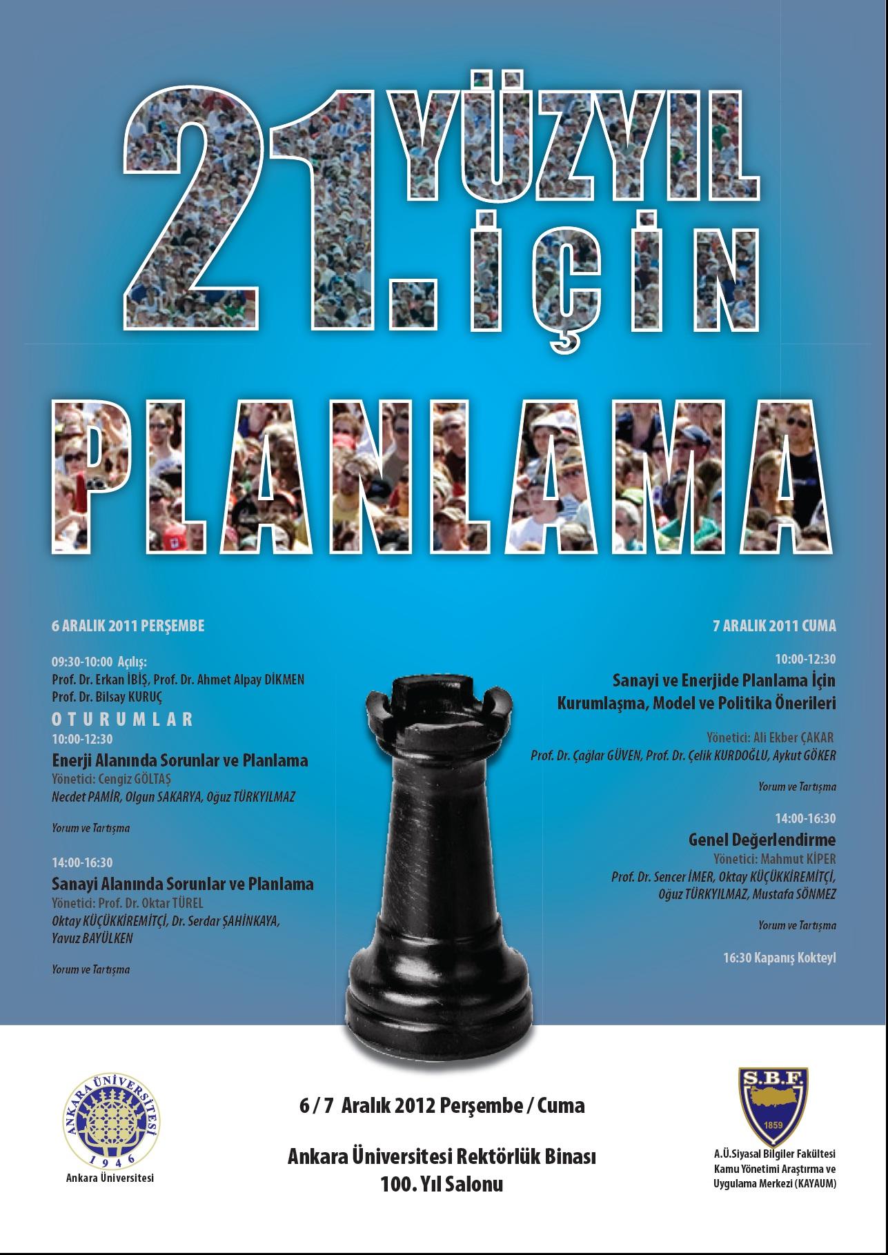 21inci Yüzyıl İçin Planlama Kurultayı- 6-7 Aralık 2012