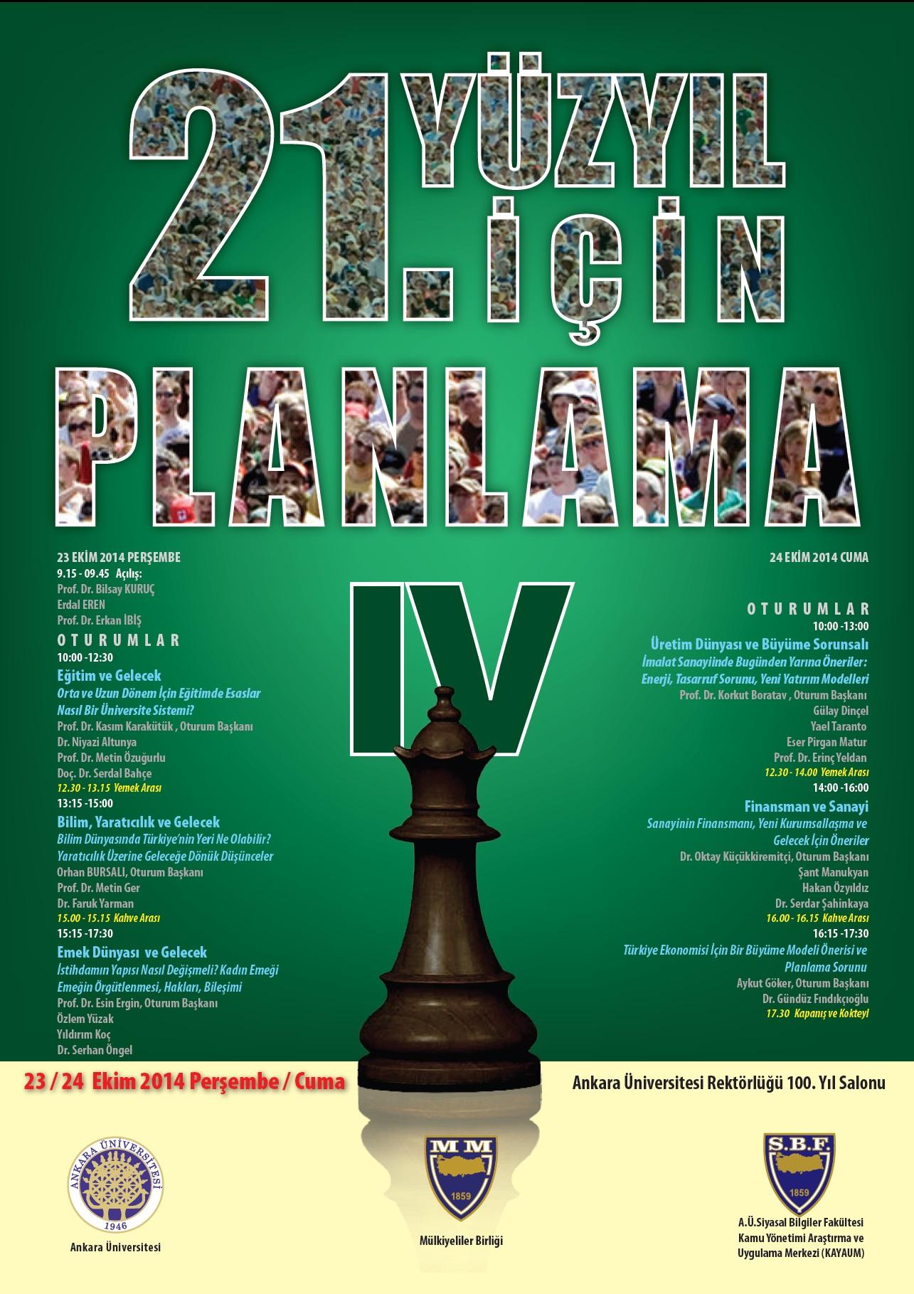 21inci Yüzyıl İçin Planlama IV. Kurultay- 23_24 Ekim 2014