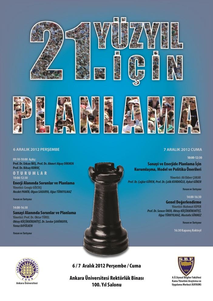 21inci Yüzyıl İçin Planlama Kurultayı- 6-7 Aralık 2012 Afis